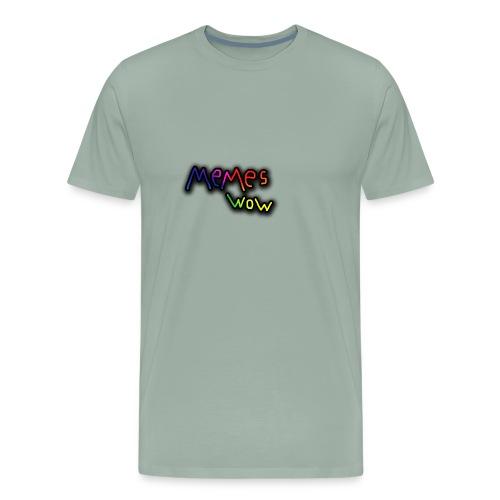 Memes Wow Logo - Men's Premium T-Shirt