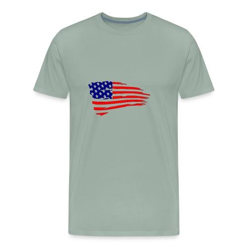 USFlagRed Blue - Men's Premium T-Shirt
