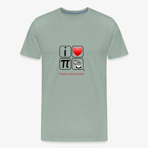I love Pilates black and white - Men's Premium T-Shirt