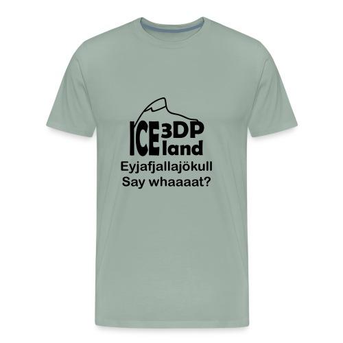 3DP Iceland Eyjafjallajokull - Men's Premium T-Shirt