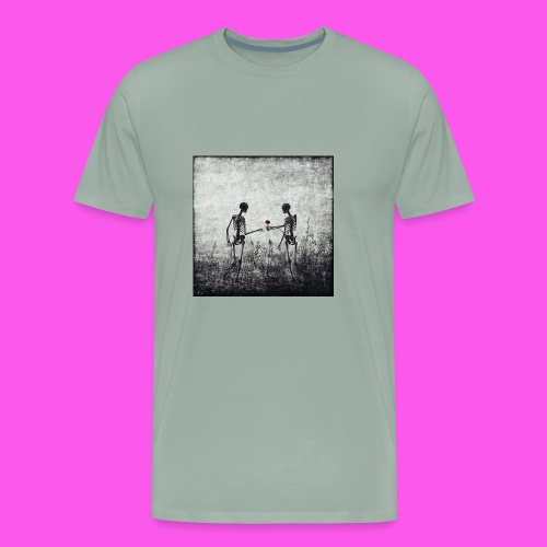 Skeletons in love - Men's Premium T-Shirt