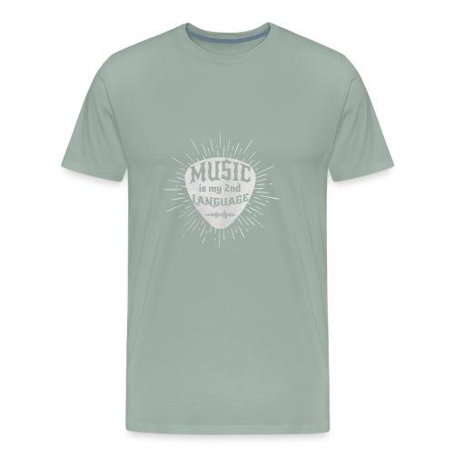 MUSIC SECOND LANGUAGE - Men's Premium T-Shirt