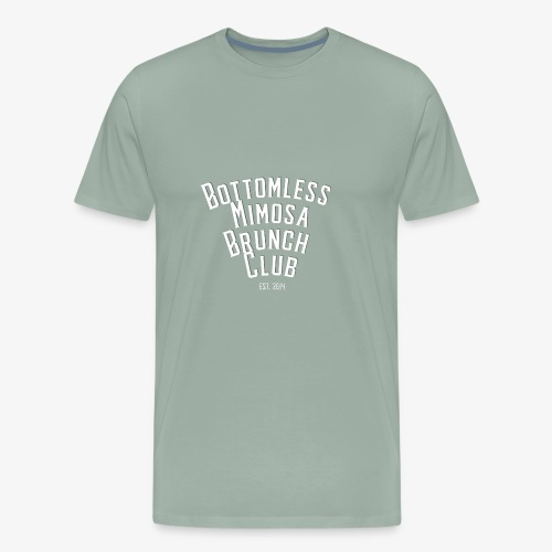 Bottomless Brunch white letter - Men's Premium T-Shirt
