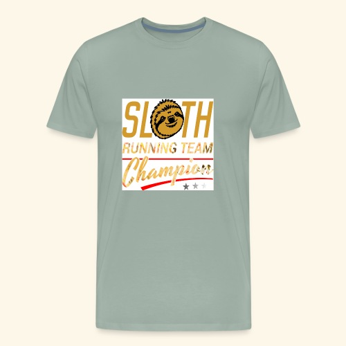 Sloth running team champion - Men's Premium T-Shirt