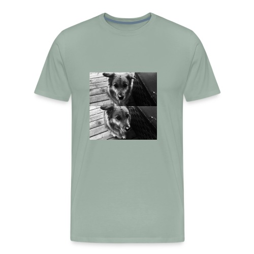 snow dog - Men's Premium T-Shirt