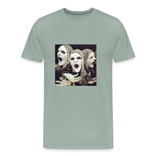 The three scary ghost... - Men's Premium T-Shirt