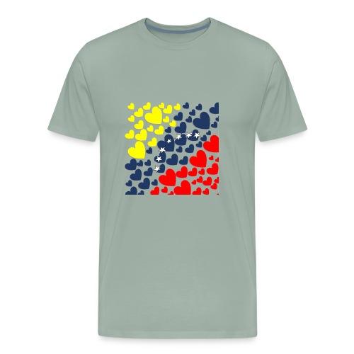 Venezuela´s Flag in heart - Men's Premium T-Shirt