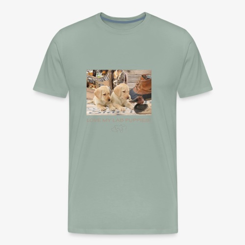 LOVE MY LAB PUPPIES - Men's Premium T-Shirt