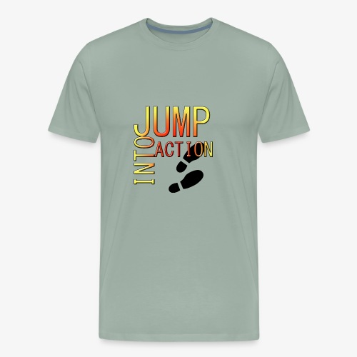 Jump into action - Men's Premium T-Shirt