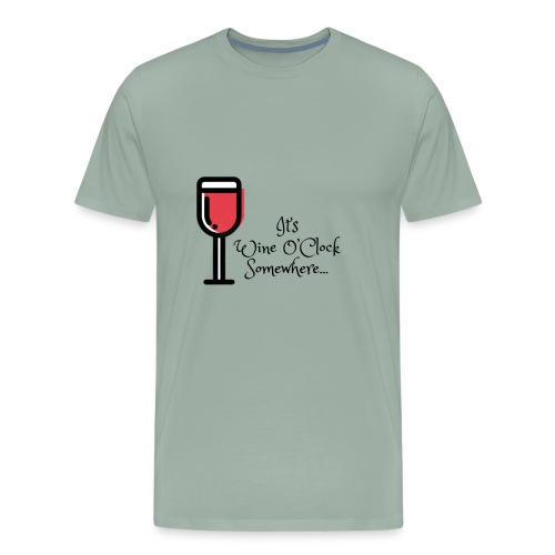 Wine O'clock - Men's Premium T-Shirt