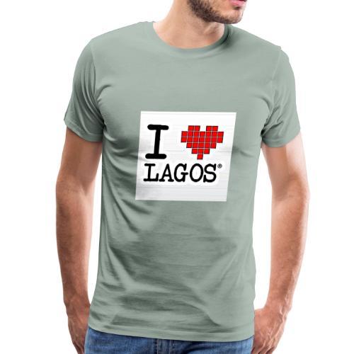 I LOVE LAGOS - Men's Premium T-Shirt