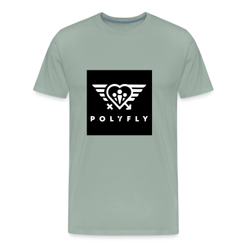 PolyFly Official Logo Wht - Men's Premium T-Shirt