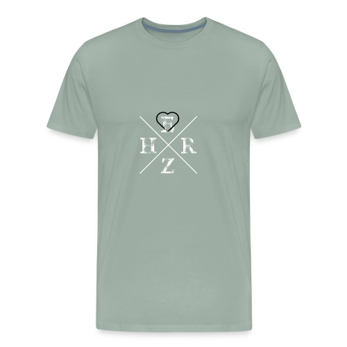 Herz, German Saying square design idea - Men's Premium T-Shirt