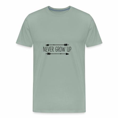 Never grow up - Men's Premium T-Shirt