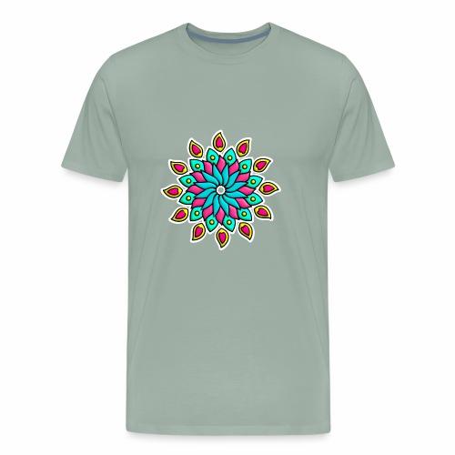 Mandala Flower - Men's Premium T-Shirt