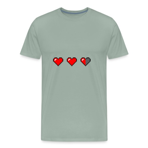 3 pixelhearts, damaged - Men's Premium T-Shirt