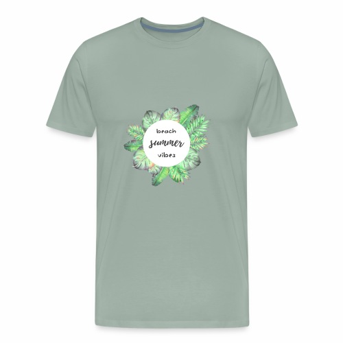 beach vibes - Men's Premium T-Shirt