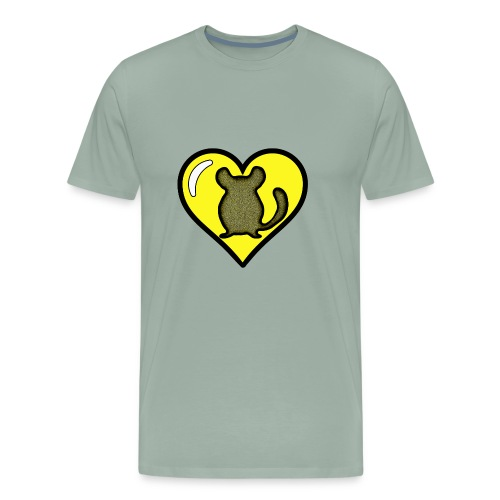 Yellow Chinchilla Heart - Men's Premium T-Shirt