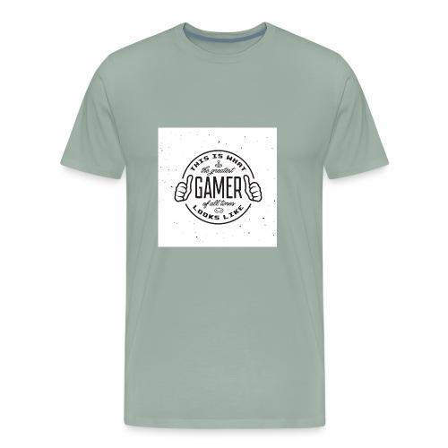 Greatest Gamer white - Men's Premium T-Shirt