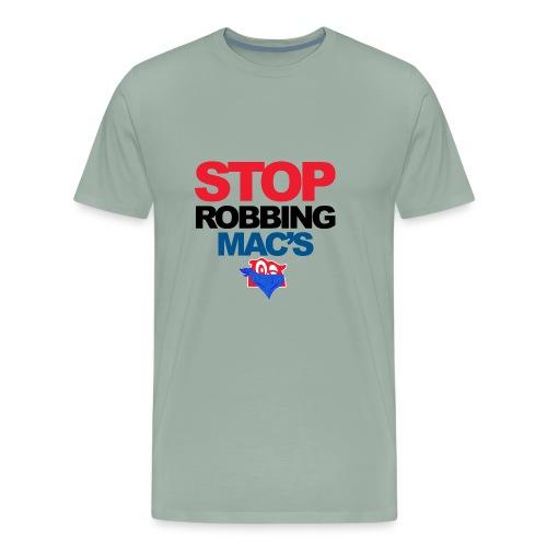 Stop Robbing Mac's Unofficial Initiative (Colour) - Men's Premium T-Shirt
