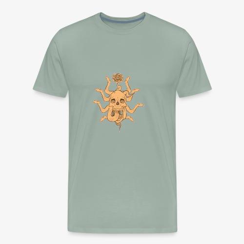 Snake skull sun - Men's Premium T-Shirt
