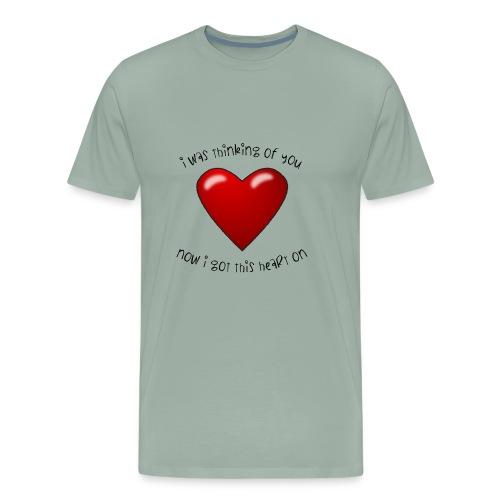 Heart On - Men's Premium T-Shirt