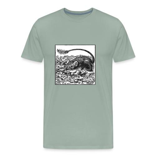 Pocket Mouse Linocut - Men's Premium T-Shirt