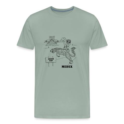 MEDEX anion gap in black print - Men's Premium T-Shirt