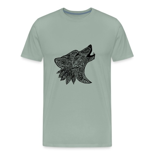 Tribal Wold Design - Men's Premium T-Shirt