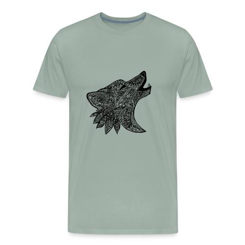 Tribal Wold Design - Men's Premium T-Shirt
