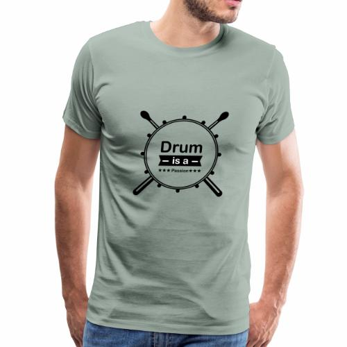 drum is passion - Men's Premium T-Shirt