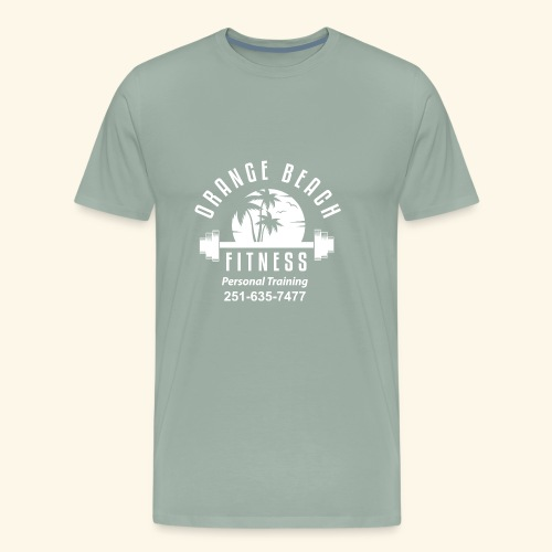 Orange Beach Fitness White Personal Training - Men's Premium T-Shirt