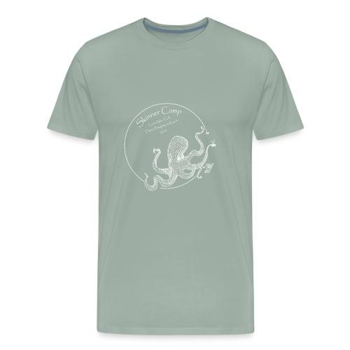 Skinner Camp - White Logo - Men's Premium T-Shirt