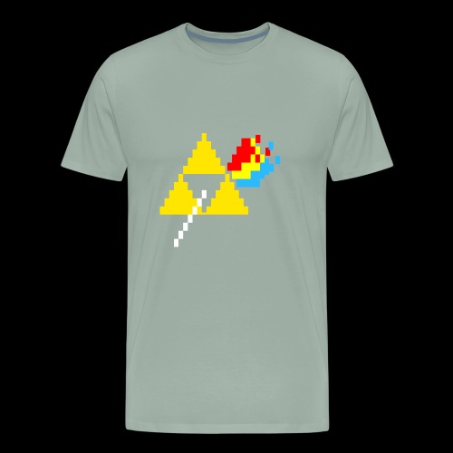 the dark side of the Triforce pixel - Men's Premium T-Shirt