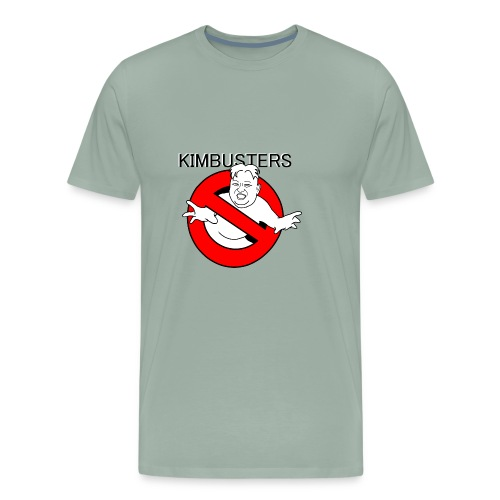 Kimbusters (with text) - Men's Premium T-Shirt