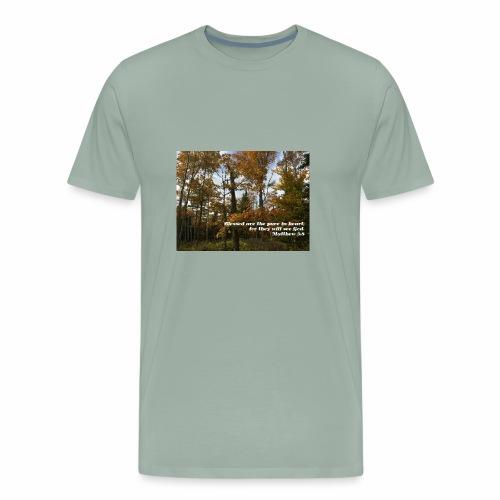Quiet Forest and Inspirational Message - Men's Premium T-Shirt