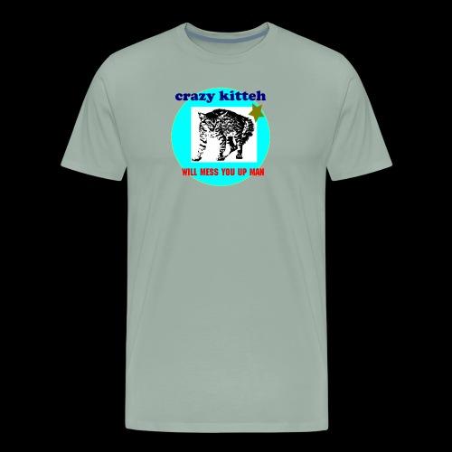 crazy kitteh - Men's Premium T-Shirt