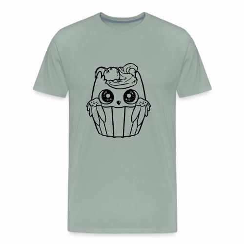 cute owl bird cupcake chibi - Men's Premium T-Shirt