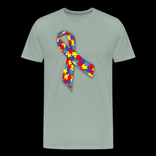 autism awareness ribbon - Men's Premium T-Shirt