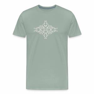 damask ornament no. 01 - white marble texture - Men's Premium T-Shirt