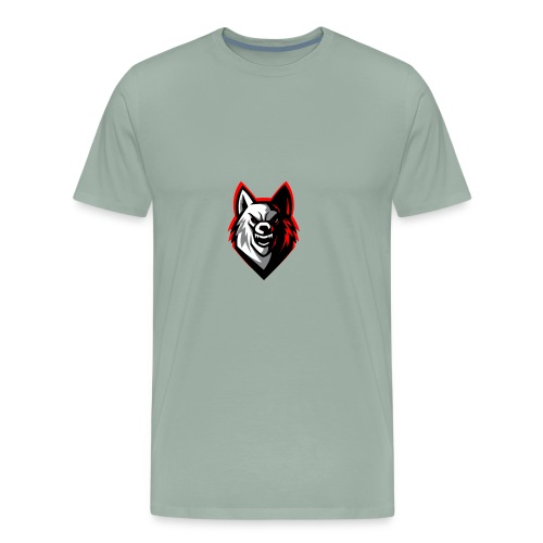 clean wolf logo by akther brothers no watermark - Men's Premium T-Shirt