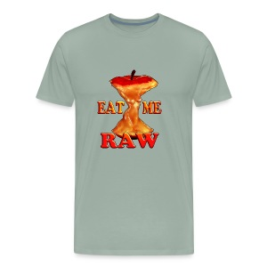 eat me raw apple design - Men's Premium T-Shirt