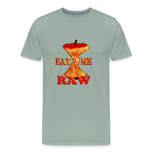 eat me raw apple design - Men's Premium T-Shirt