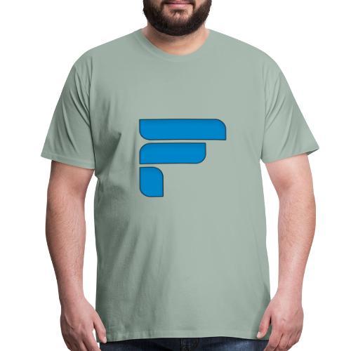 Frosty Blue Logo Center - Men's Premium T-Shirt