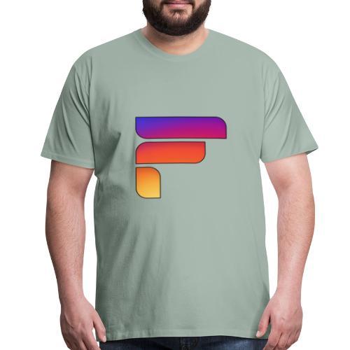 Frosty Rainbow Logo Center - Men's Premium T-Shirt