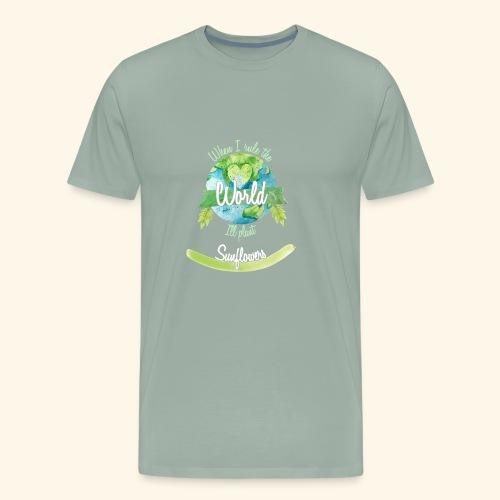 Sunflowers World Ruler - Men's Premium T-Shirt