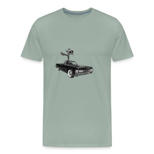 Retro Vintage Giraffe Car Road-Trip - Men's Premium T-Shirt