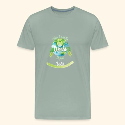 Violets World Ruler - Men's Premium T-Shirt