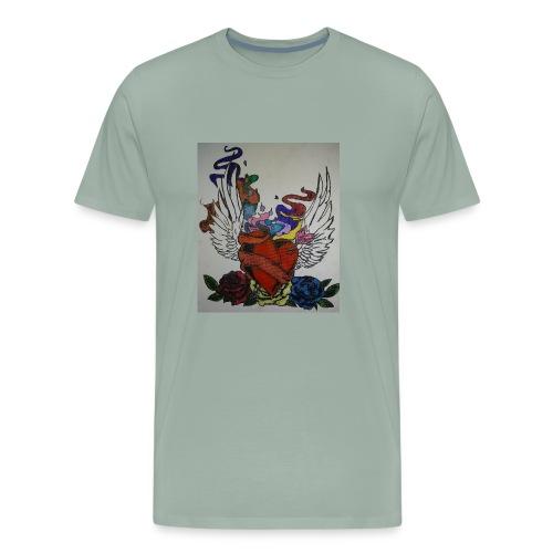 Winged heart - Men's Premium T-Shirt