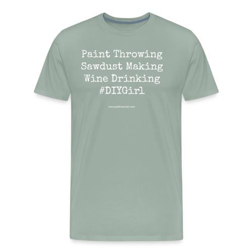 paint wine work - Men's Premium T-Shirt